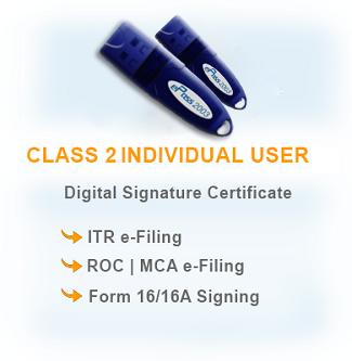 Class 2 - Digital Signature Certificates