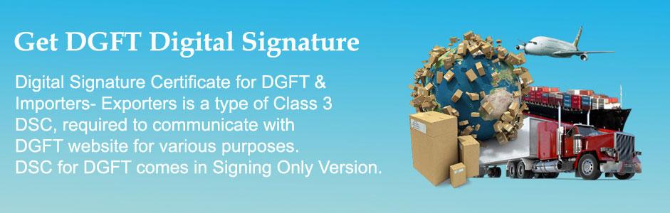 DGFT Digital Signature Certificates
